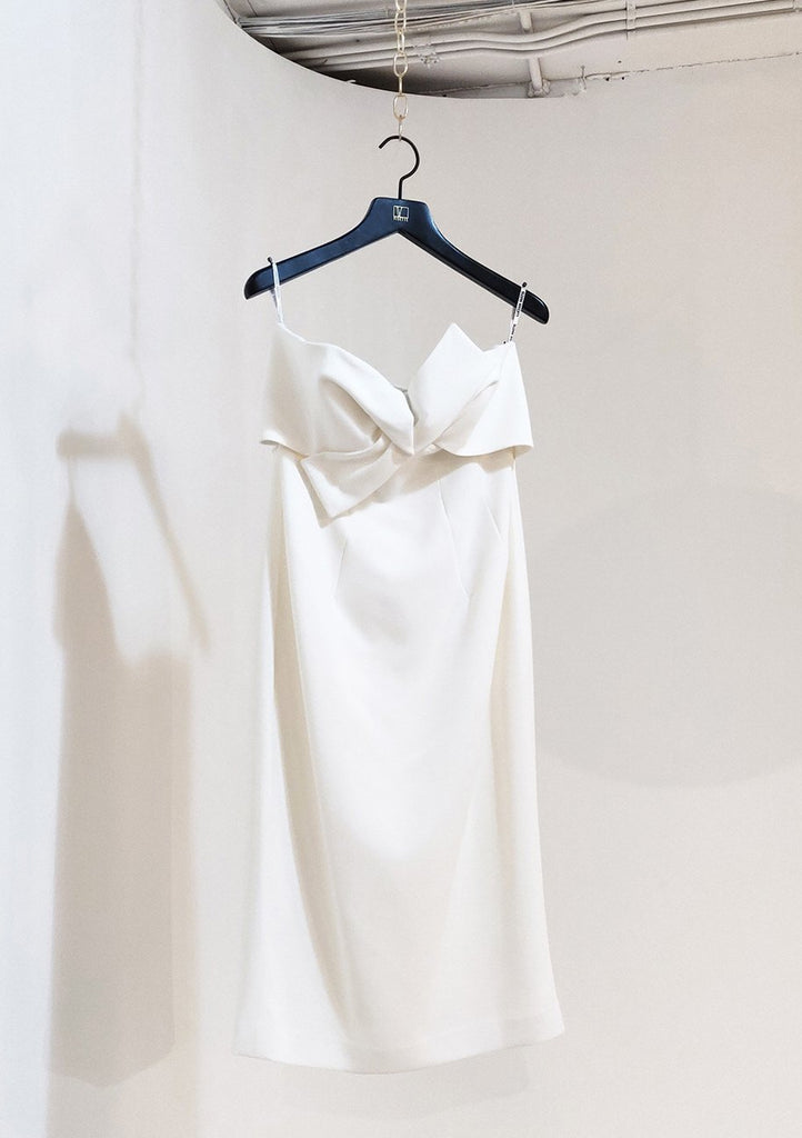 Lucien Matis Strapless Cocktail Dress