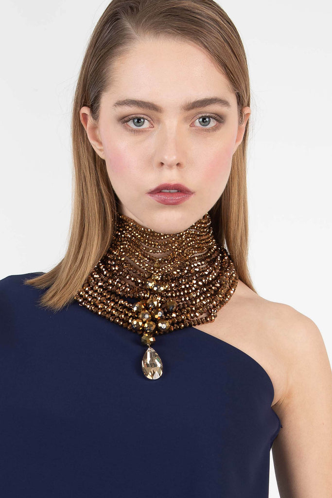 Namiko Abloom Embellished Layer Necklace