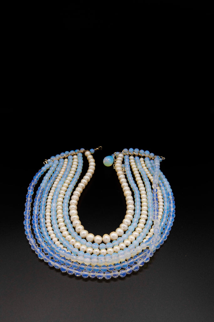 Namiko Abloom Pearl and Crystal Necklace