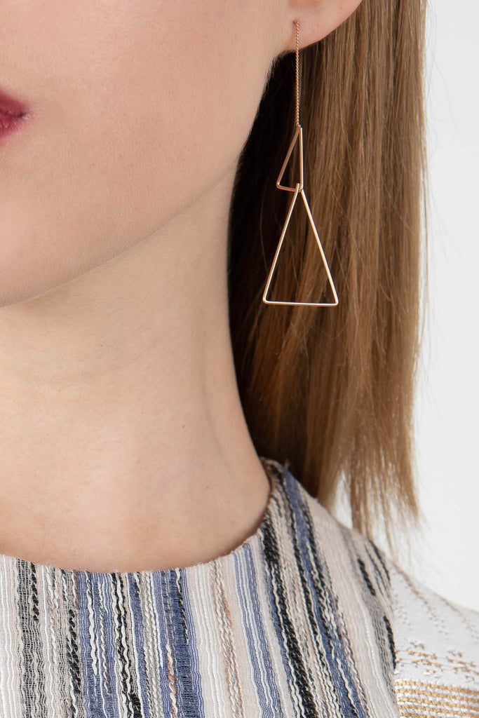 Pursuits Dual Triangle Earrings