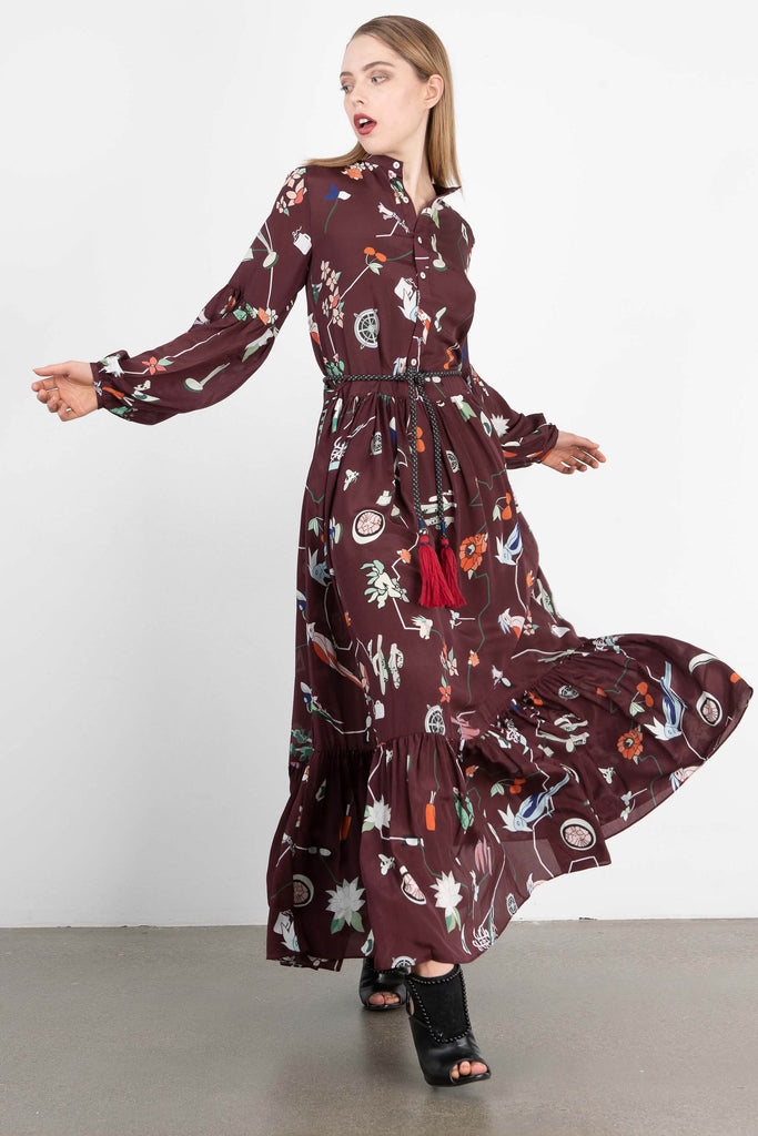 Love Binetti 'Fleetwood Mac' Printed Maxi Dress