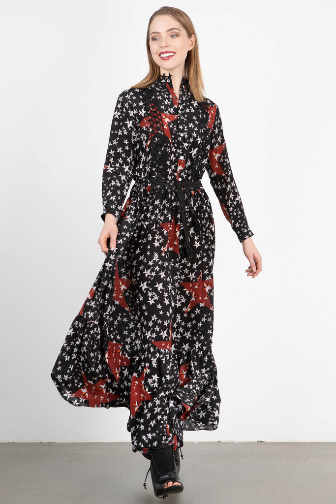 Love Binetti 'Blondie' Star Print Maxi Dress