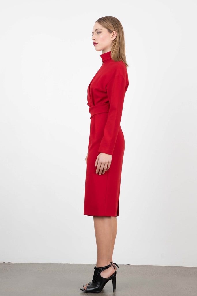 Exquise Mock Turtle Neck Dress