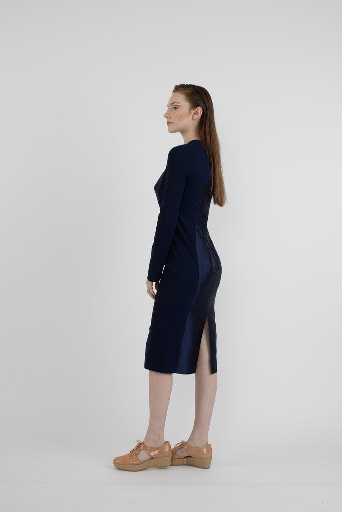 Greta Constantine Long Sleeve Body-Con Dress