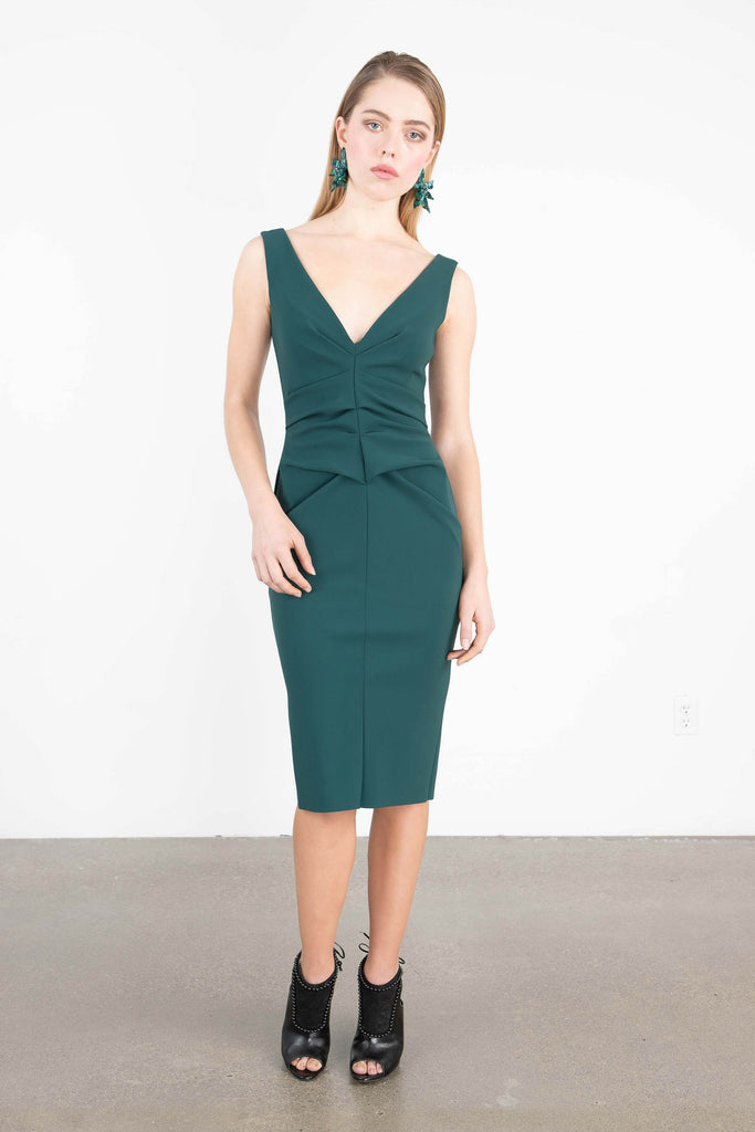 Greta Constantine 'BRETT' Fitted Midi Dress