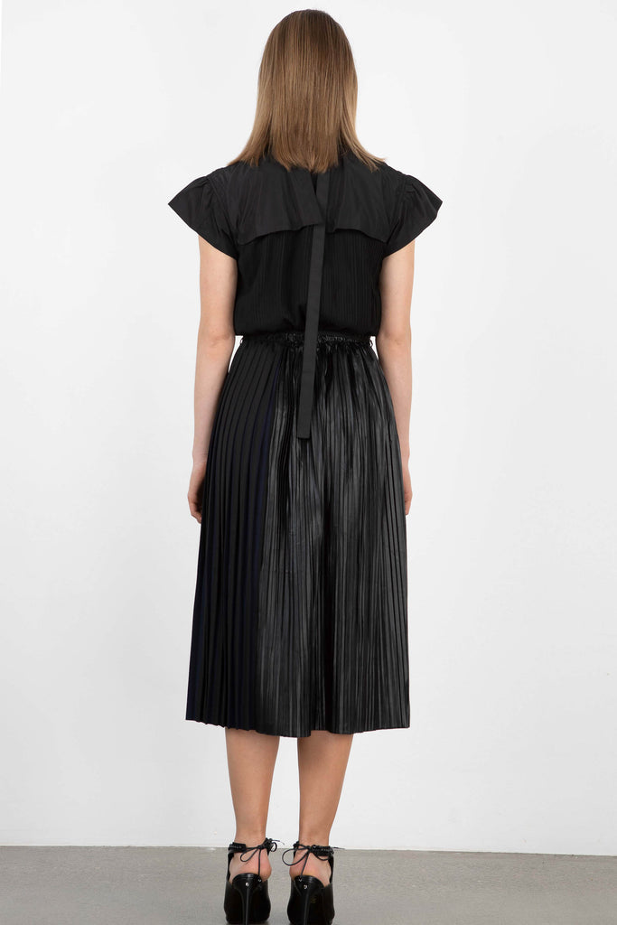 Love Binetti Cap Sleeve Pleated Dress