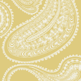 Yellow Flocked Paisley Rajapur Cole & Son