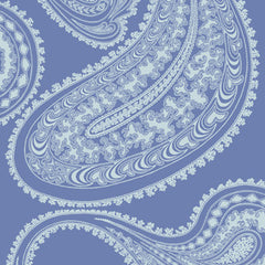 Blue on Blue Paisley Flock Cole & son Rajapur