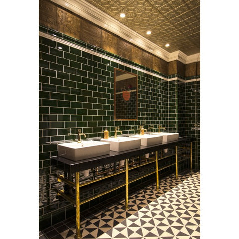 Art Deco Bathroom Ceiling in Comercial setting