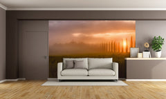 Tuscany Sunrise Digital Wallpaper Wall mural