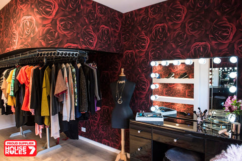 Andy & Lisa House Rules Dressing Room Roses Wallpaper