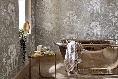 Mystic Elephant Forest Walk Wallpaper Bathrooms
