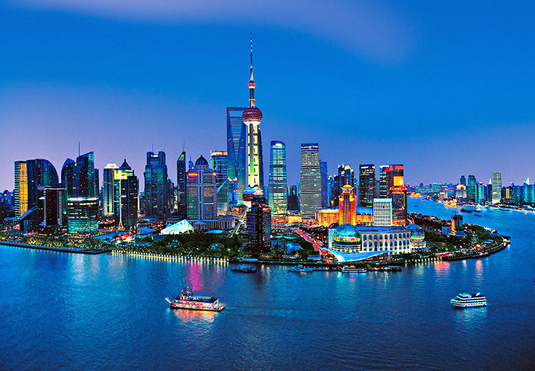 Shanghai City Skyline Wall Mural