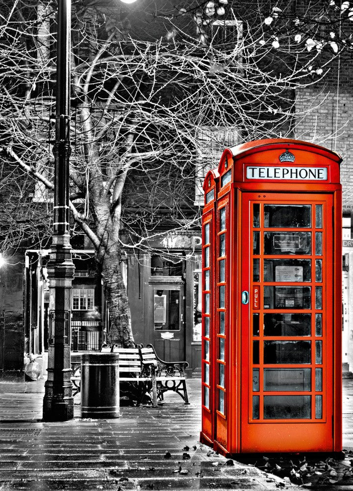 Shepherd Market London Red Telephone Box Wallpaper Mural