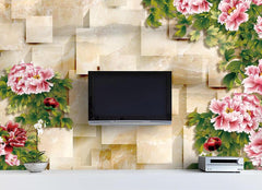 3D Magnifica Peony Floral Tiles