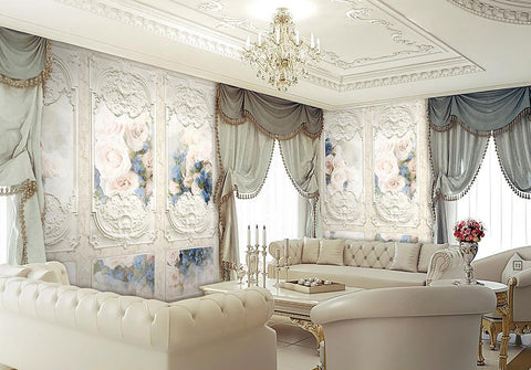 Traditional French Floral Panels