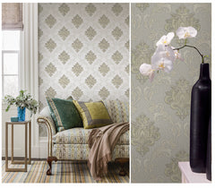 Embossed Royal Damask Wallpaper