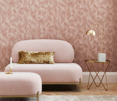 Wavy Satin Textured Wallpaper
