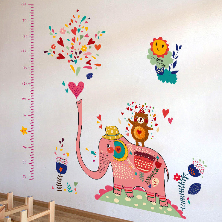 Colourful Elephant Wall Sticker
