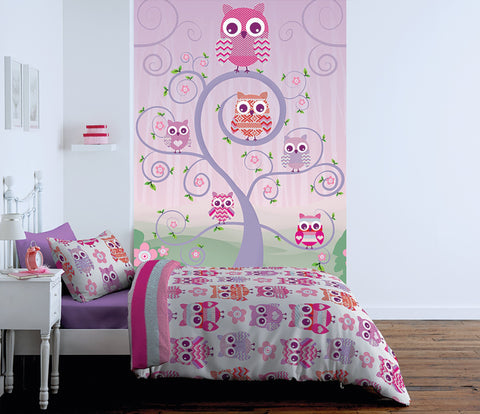 Childrens Owl Mural