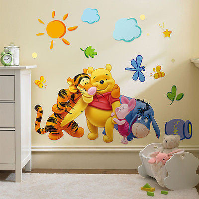 Disney Winnie the Pooh Removeable Wall Sticker Decal Kids Room Nursery