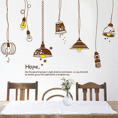 Light up Life Lights Hope Quote Removeable Wall Sticker Decal Kids Room Study