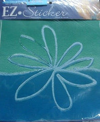 EZ Floral Blue Green Flower Sticker Girls Room Decal