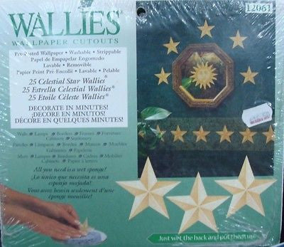 Removeable Wall Sticker / Decal Wallies Celestial Stars