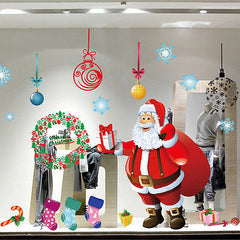 Father Christmas Santa Claus Removeable Wall Window Sticker Decal
