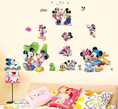 Disney Mickey Minnie Mouse Sticker Decal