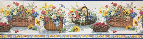 Floral Border Flower Baskets