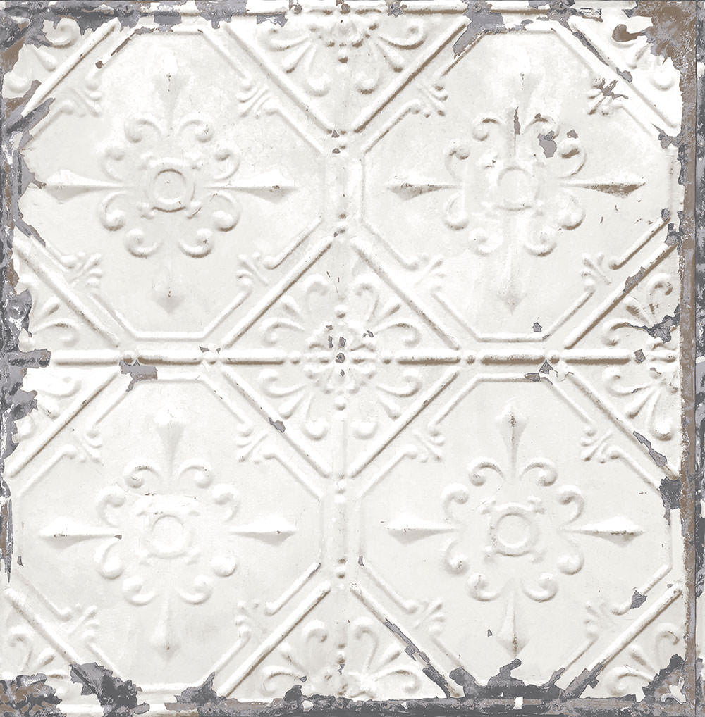 Large Tile Faux Pressed Metal Victorian Tin