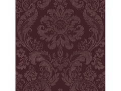 Flocked Damask Moonlight
