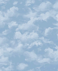 Blue Sky with White Cloud Wallpaper