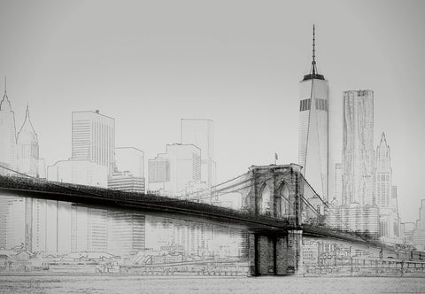 New York Sketch Photo Art