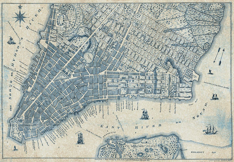 New York Vintage Map