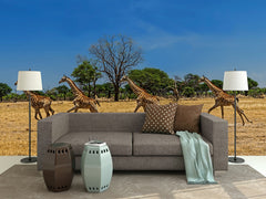 Fleeing Giraffe Wall Mural