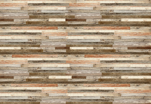 Horizontal Recycled soft Wood Wall