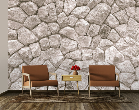 Large Lime White Stone Wall
