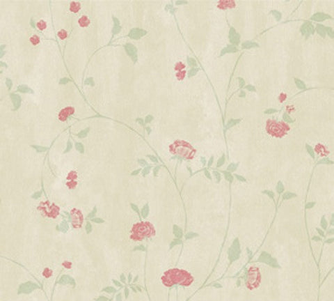 Delicate Rose Trail Vintage Cottage Floral