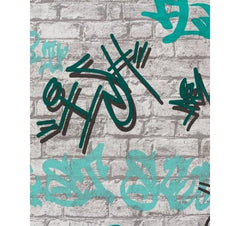 Graffiti Street Art Wallpaper on Brick