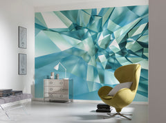 3D Crystal Cave Wall Mural