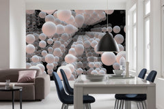 3D Spherical Wall Mural