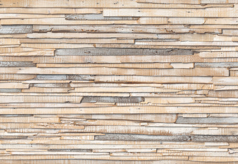 Whitewashed Wood Wall Mural