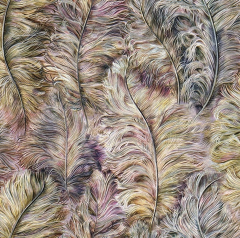 Morbidezza Textured Bird Feather Wallpaper