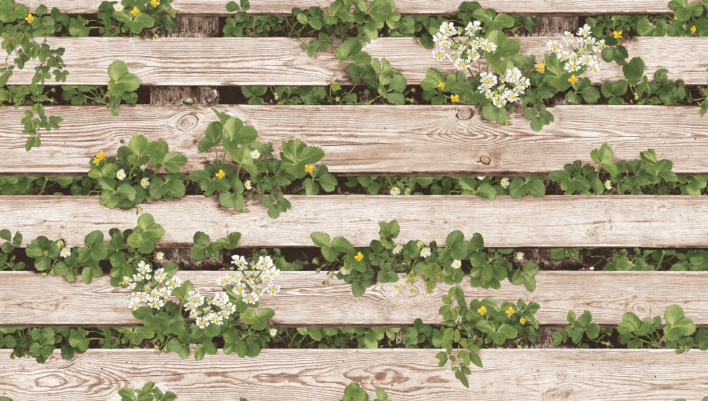 3D Timber Fence & Clover