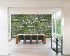 3D Slate Stone with Greenery Wallpaper