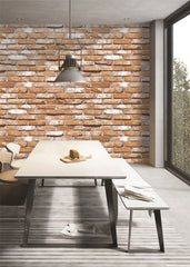 3D Vintage Brick Wallpaper