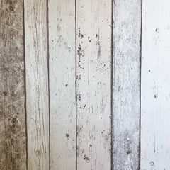 Multi Coloured Washed Timber Wallpaper