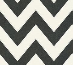 Black and White Glitter Chevron Wallpaper